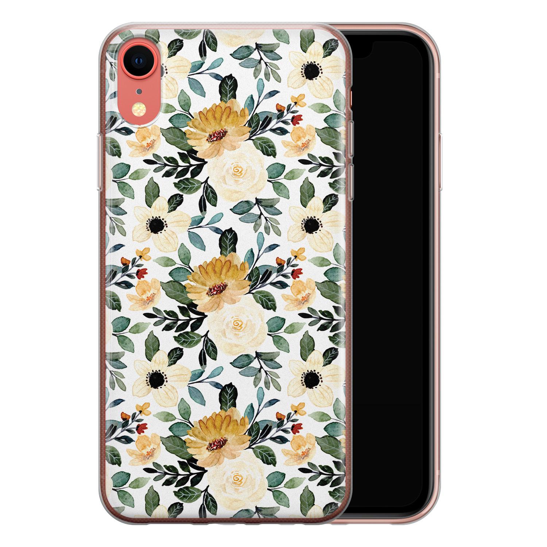 iPhone XR siliconen hoesje - Lovely flower