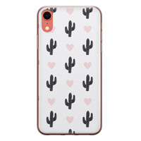 iPhone XR siliconen hoesje - Cactus love
