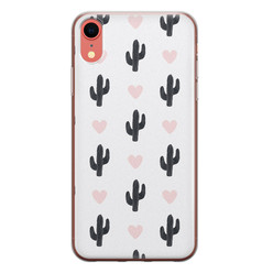 iPhone XR siliconen hoesje - Cactus love