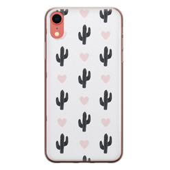 Leuke Telefoonhoesjes iPhone XR siliconen hoesje - Cactus love