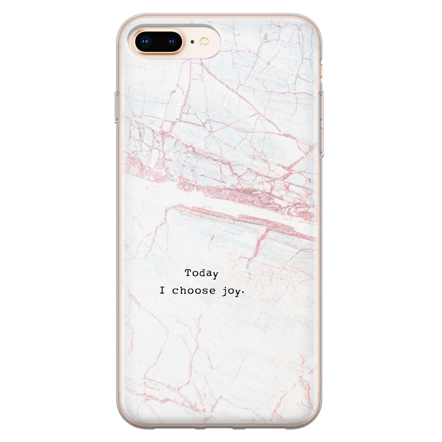 iPhone 8 Plus/7 Plus siliconen hoesje - Today I choose joy