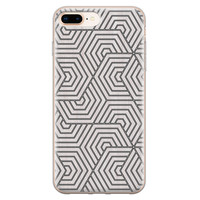 iPhone 8 Plus/7 Plus siliconen hoesje - Geometrisch