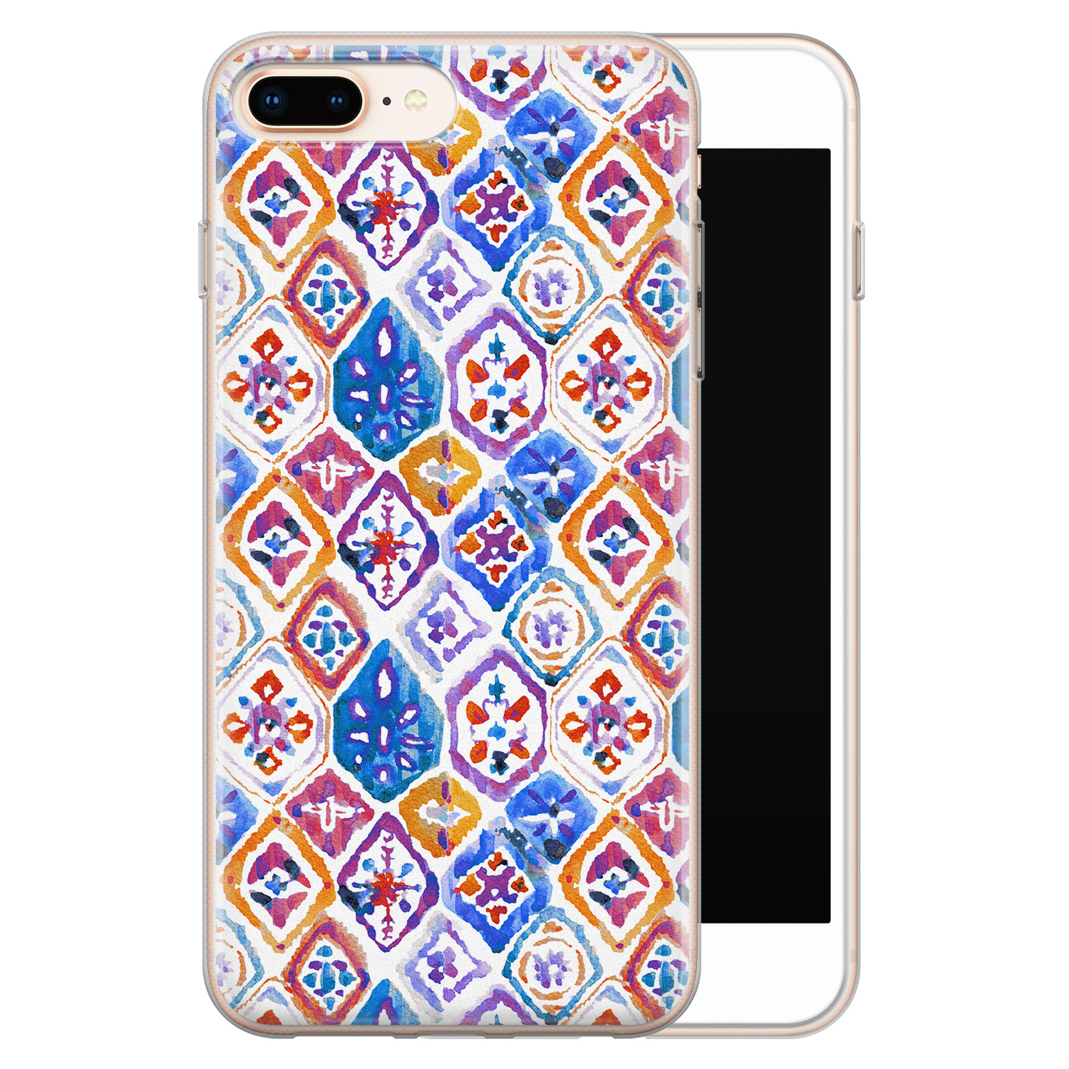 iPhone 8 Plus/7 Plus siliconen hoesje - Boho vibe