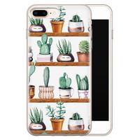 iPhone 8 Plus/7 Plus siliconen hoesje - Cactus