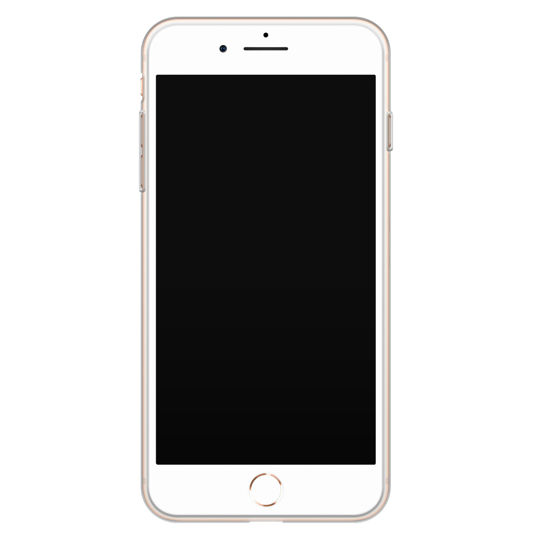 iPhone 8 Plus/7 Plus siliconen hoesje - Marmer zwart goud