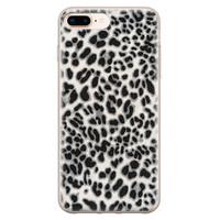 iPhone 8 Plus/7 Plus siliconen hoesje - Luipaard grijs