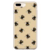 iPhone 8 Plus/7 Plus siliconen hoesje - Bee happy