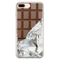 Leuke Telefoonhoesjes iPhone 8 Plus/7 Plus siliconen hoesje - Chocoladereep