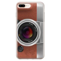 iPhone 8 Plus/7 Plus siliconen hoesje - Vintage camera