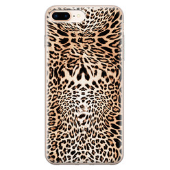 iPhone 8 Plus/7 Plus siliconen hoesje - Wild animal