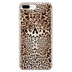 Leuke Telefoonhoesjes iPhone 8 Plus/7 Plus siliconen hoesje - Wild animal