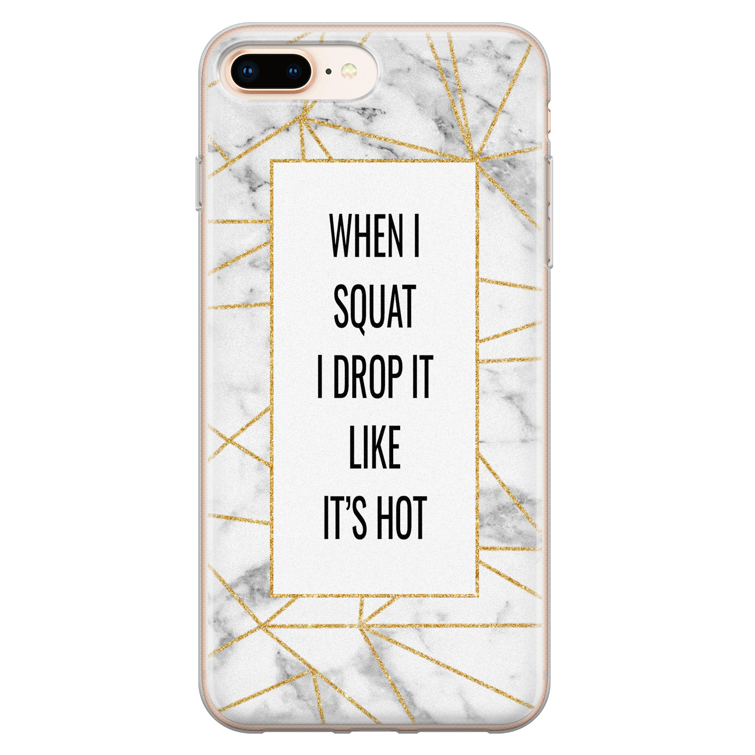 iPhone 8 Plus/7 Plus siliconen hoesje - Dropping squats