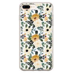 Leuke Telefoonhoesjes iPhone 8 Plus/7 Plus siliconen hoesje - Lovely flower