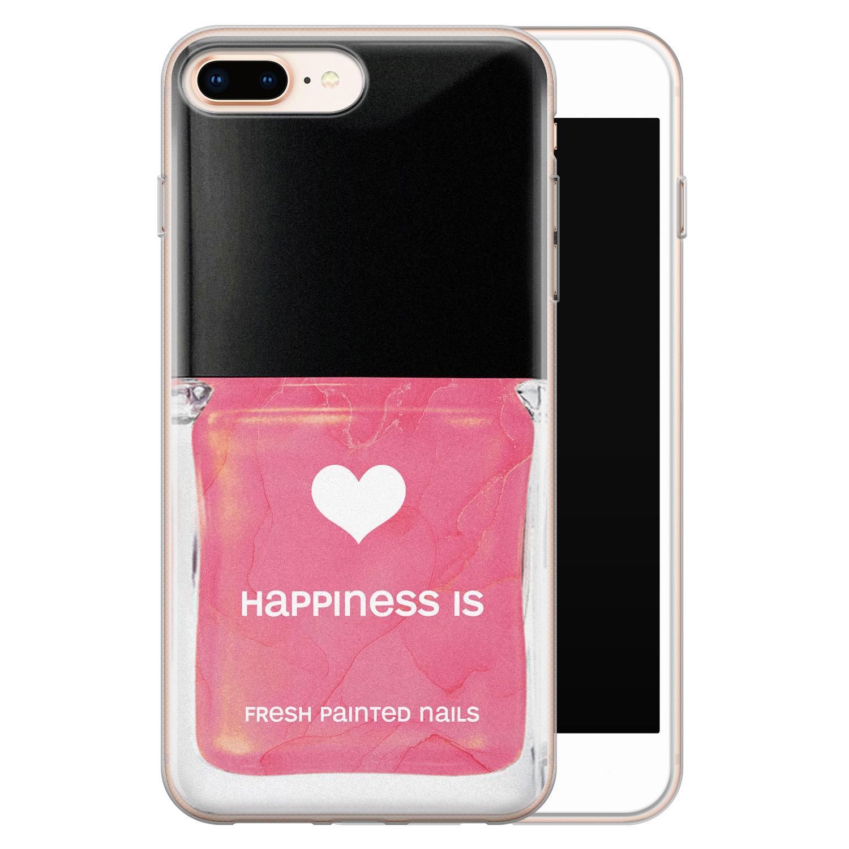 iPhone 8 Plus/7 Plus siliconen hoesje - Nagellak