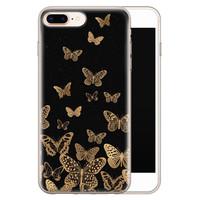 iPhone 8 Plus/7 Plus siliconen hoesje - Vlinders