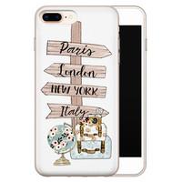 Leuke Telefoonhoesjes iPhone 8 Plus/7 Plus siliconen hoesje - Where to go next
