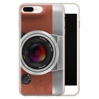 Leuke Telefoonhoesjes iPhone 8 Plus/7 Plus siliconen hoesje - Vintage camera