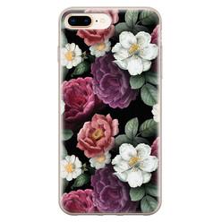 iPhone 8 Plus/7 Plus siliconen hoesje - Bloemenliefde