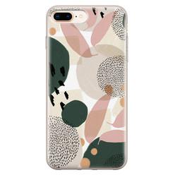 Leuke Telefoonhoesjes iPhone 8 Plus/7 Plus siliconen hoesje - Abstract print