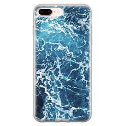 Leuke Telefoonhoesjes iPhone 8 Plus/7 Plus siliconen hoesje - Ocean blue