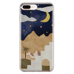 Leuke Telefoonhoesjes iPhone 8 Plus/7 Plus siliconen hoesje - Desert night