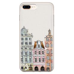 Leuke Telefoonhoesjes iPhone 8 Plus/7 Plus siliconen hoesje - Grachtenpandjes