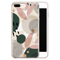 iPhone 8 Plus/7 Plus siliconen hoesje - Abstract print