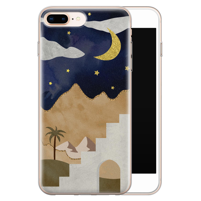 iPhone 8 Plus/7 Plus siliconen hoesje - Desert night