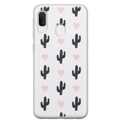 Samsung Galaxy A20e siliconen hoesje - Cactus love