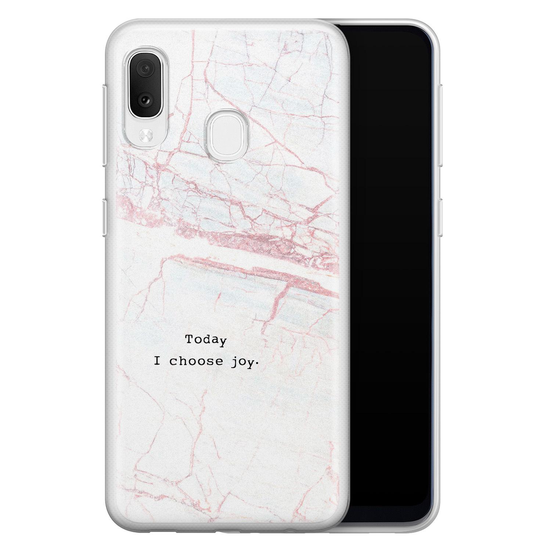 Samsung Galaxy A20e siliconen hoesje - Today I choose joy