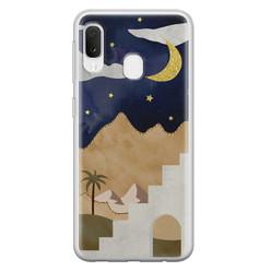 Leuke Telefoonhoesjes Samsung Galaxy A20e siliconen hoesje - Desert night