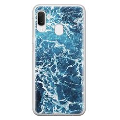 Samsung Galaxy A20e siliconen hoesje - Ocean blue