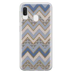 Leuke Telefoonhoesjes Samsung Galaxy A20e siliconen hoesje - Retro zigzag