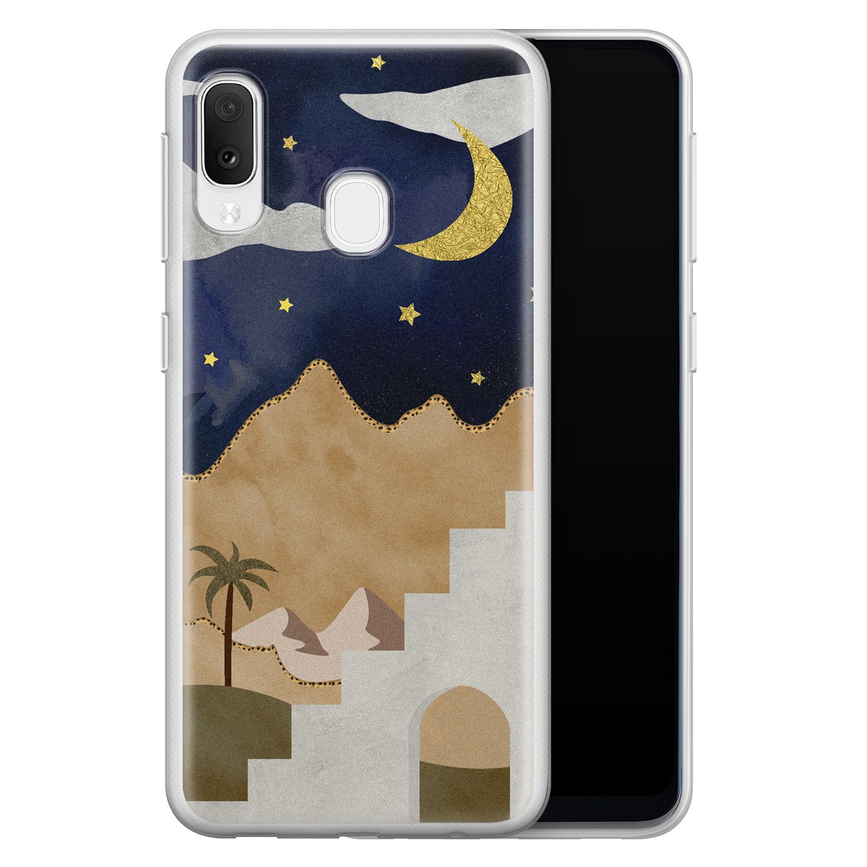 Samsung Galaxy A20e siliconen hoesje - Desert night