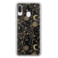 Samsung Galaxy A20e siliconen hoesje - Sun, moon, stars