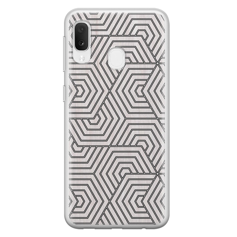Samsung Galaxy A20e siliconen hoesje - Geometrisch
