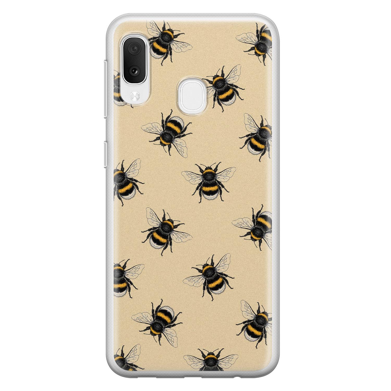 Samsung Galaxy A20e siliconen hoesje - Bee happy