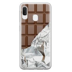 Leuke Telefoonhoesjes Samsung Galaxy A20e siliconen hoesje - Chocoladereep