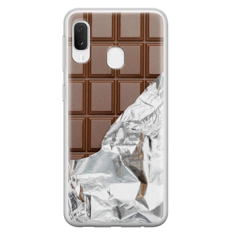 Samsung Galaxy A20e siliconen hoesje - Chocoladereep