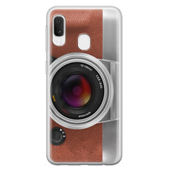 Samsung Galaxy A20e siliconen hoesje - Vintage camera