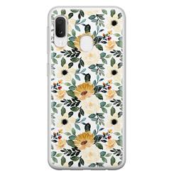 Leuke Telefoonhoesjes Samsung Galaxy A20e siliconen hoesje - Lovely flower