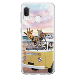 Leuke Telefoonhoesjes Samsung Galaxy A20e siliconen hoesje - Wanderlust