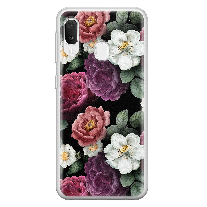 Samsung Galaxy A20e siliconen hoesje - Bloemenliefde