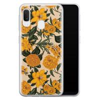 Samsung Galaxy A20e siliconen hoesje - Retro flowers