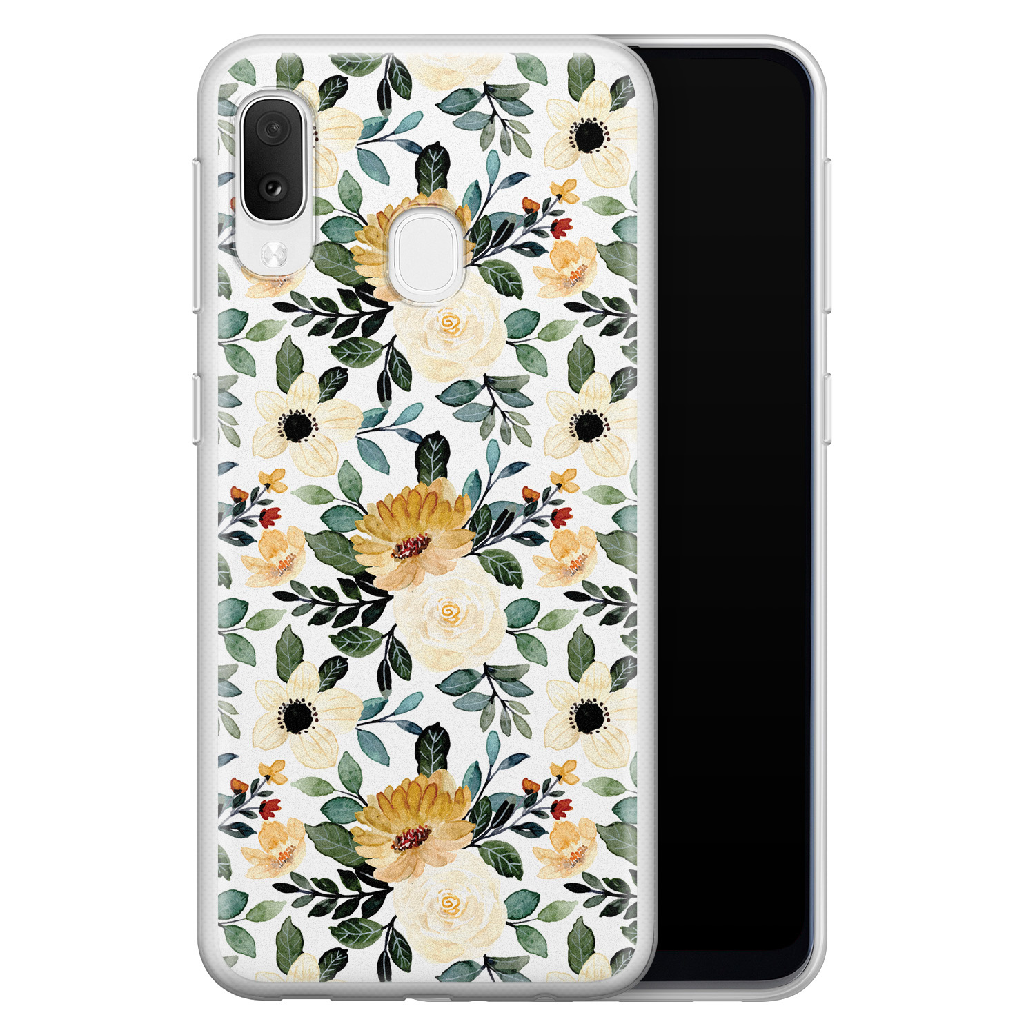 Samsung Galaxy A20e siliconen hoesje - Lovely flower
