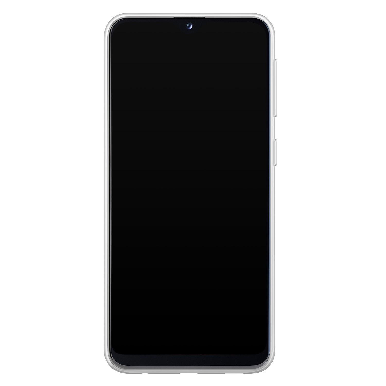 Samsung Galaxy A20e siliconen hoesje - Marmer zwart bruin
