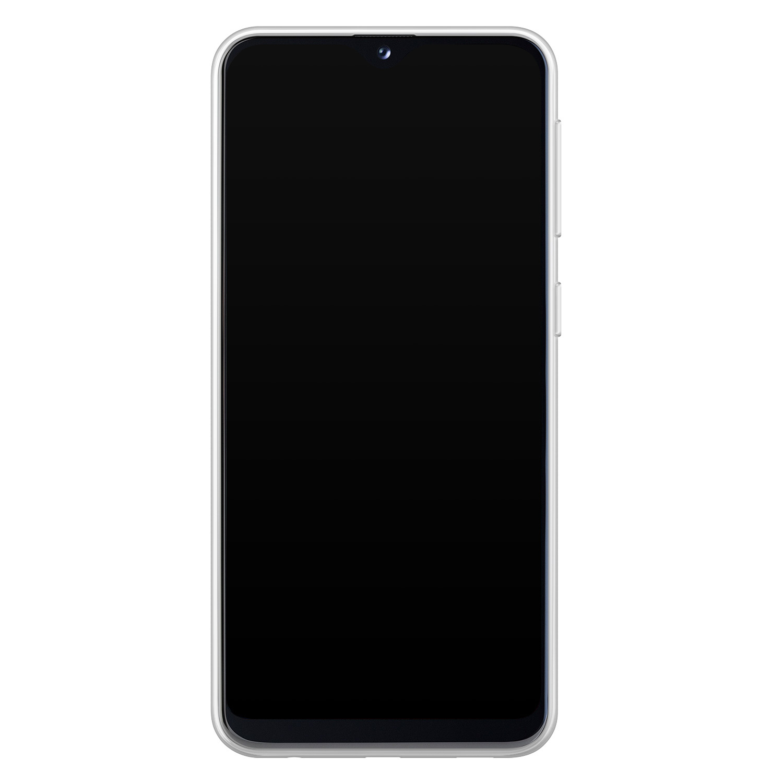 Samsung Galaxy A20e siliconen hoesje - Geometrisch blauw