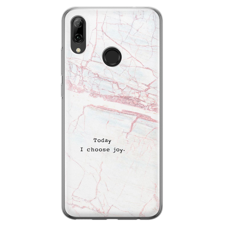 Huawei P Smart 2019 siliconen hoesje - Today I choose joy