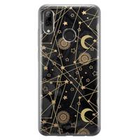 Huawei P Smart 2019 siliconen hoesje - Sun, moon, stars