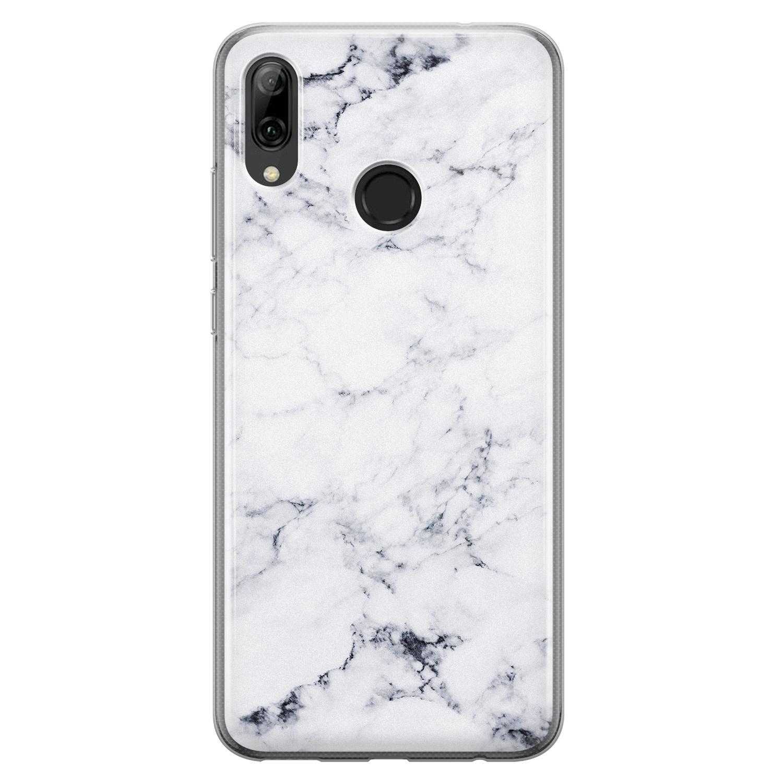 Huawei P Smart 2019 siliconen hoesje - Marmer grijs